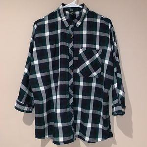 Forever 21 Plaid Button Up - MED